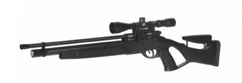 Gamo Coyote Black PCP Precharged Air Rifle Silencer, Scope & Bag Pack